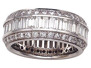 Diamond Eternity Band by Yoni Diamonds