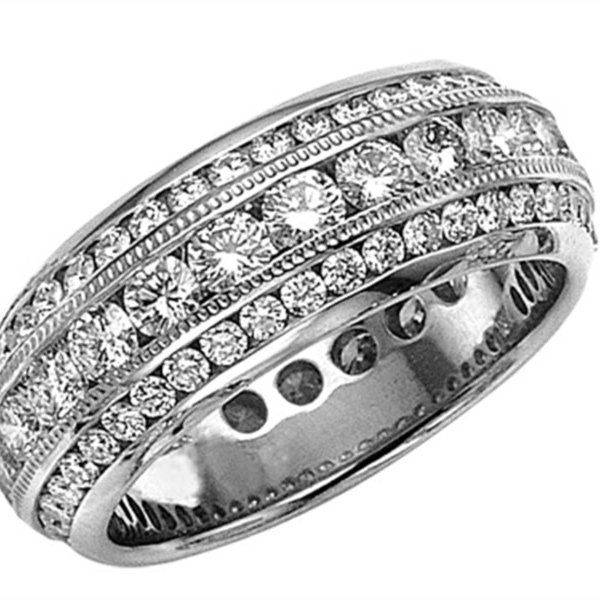 White Gold Eternity Band by Yoni Diamonds
