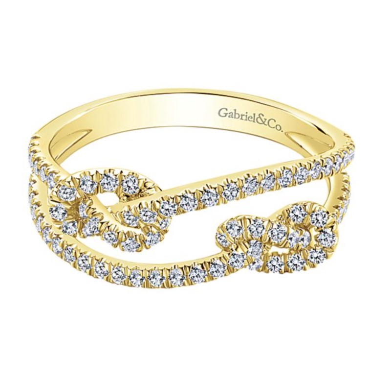 Love Knot Stacking Ring by Gabriel & Co