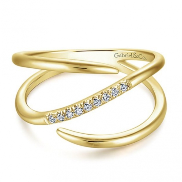 Gold + Diamond Ring by Gabriel & Co