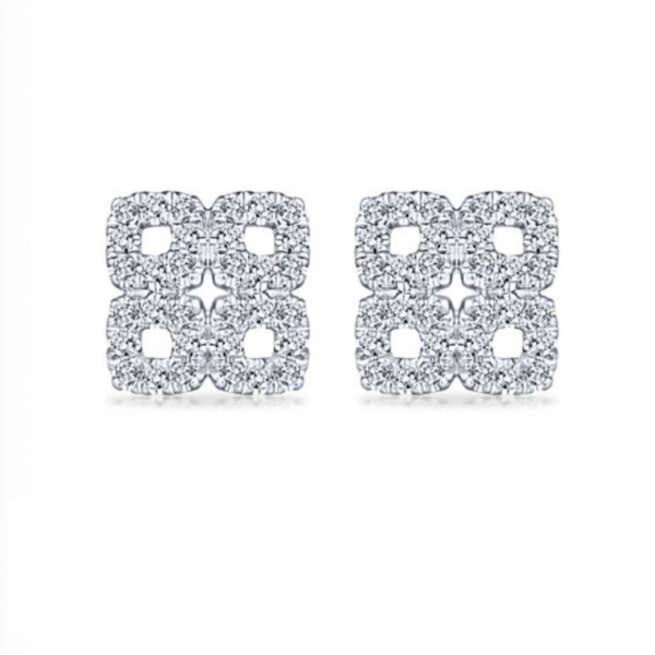 Square Stud Earrings by Gabriel & Co