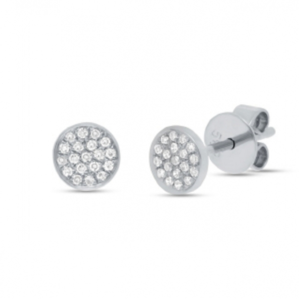 Pave Diamond Stud Earrings by HJ Hot Jewels