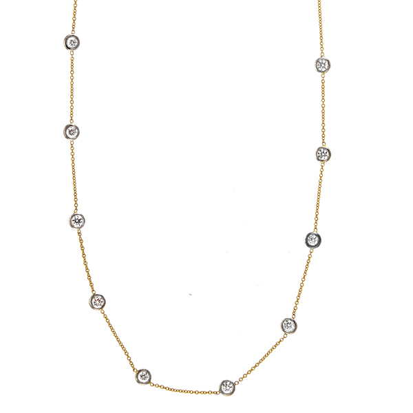 Diamonds by the Yard Necklace by HJ Hot Jewels