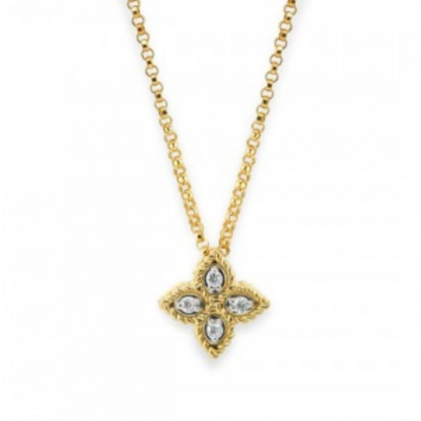 Princess Flower Small Pendant Necklace by Roberto Coin Store Offerings