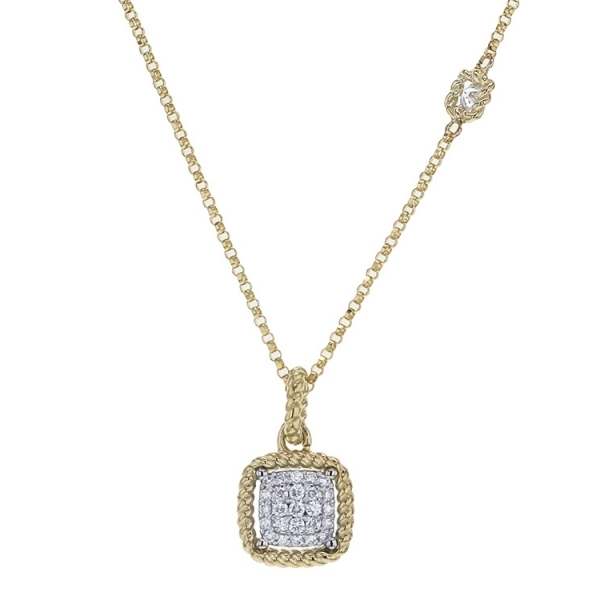 New Barocco Cushion Diamond Pendant by Roberto Coin Store Offerings