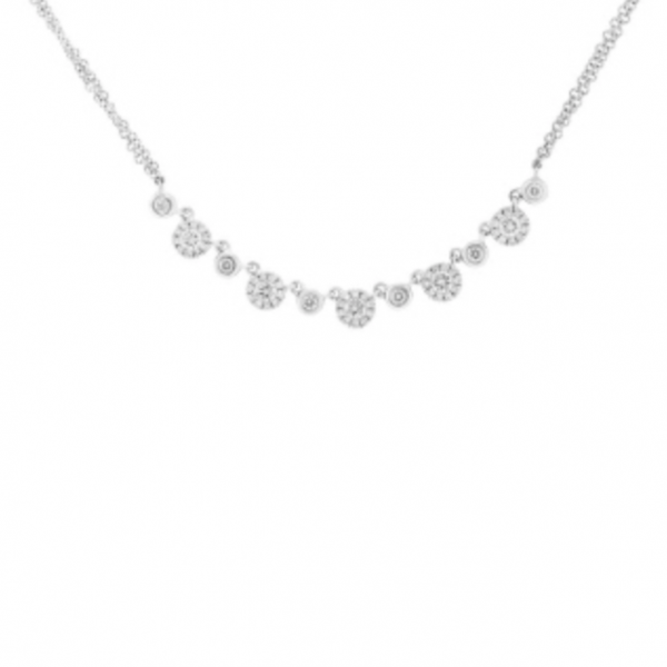 Diamond Cluster Necklace by HJ Hot Jewels