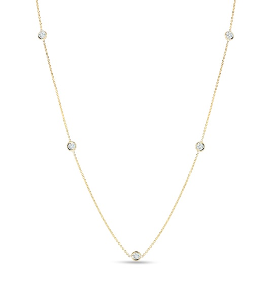 Diamond By The Yard Necklace by Roberto Coin