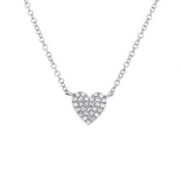 Pave Diamond Heart Necklace by HJ Hot Jewels
