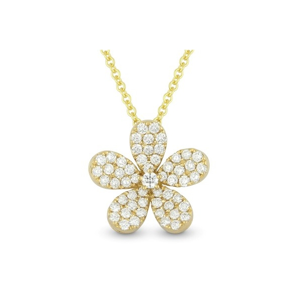 Diamond Flower Necklace by HJ Hot Jewels