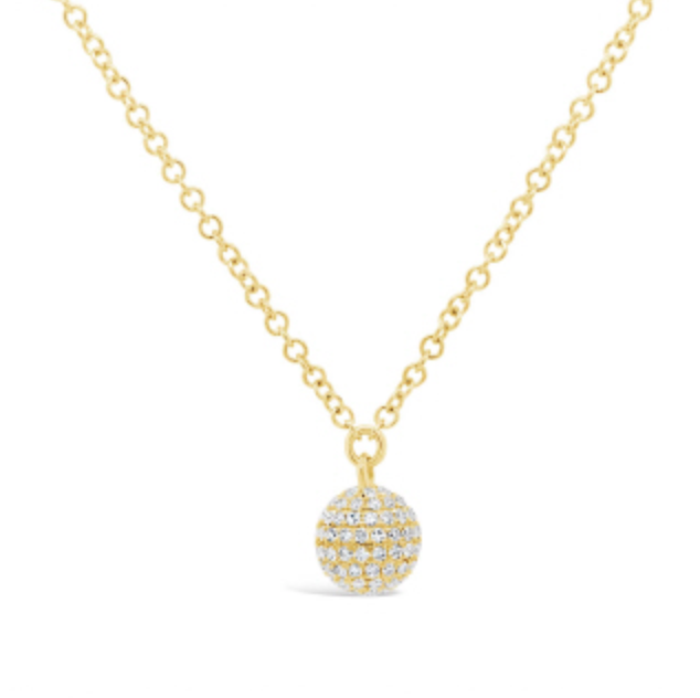 Pave Diamond Necklace by HJ Hot Jewels