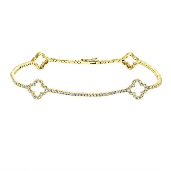 Gold Tennis Bracelet by Gabriel & Co