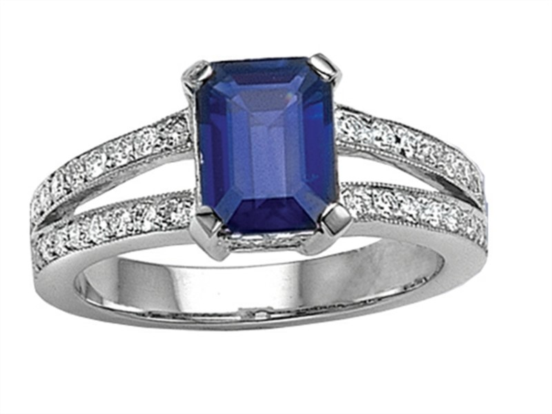 Sapphire + Diamond Ring by Yoni Diamonds