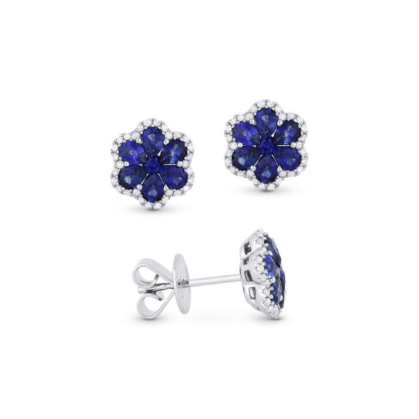 Sapphire Flower Studs by Madison L