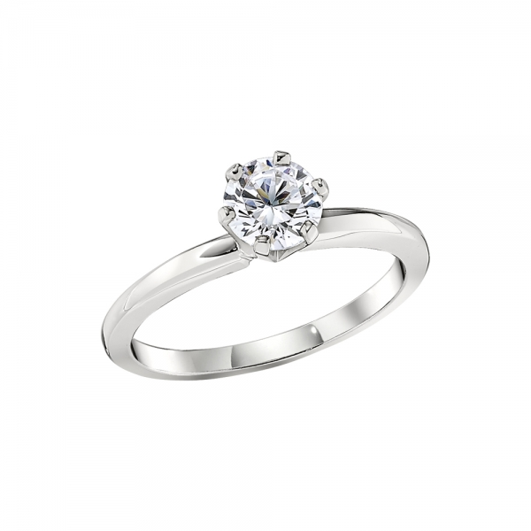 Domed Band Classic Solitaire Engagement Ring Settings by Jabel