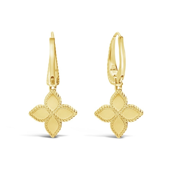 Princess Flower Drop Earrings by Roberto Coin