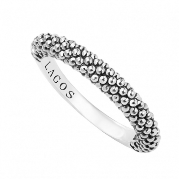 Signature Caviar Stacking Ring by Lagos