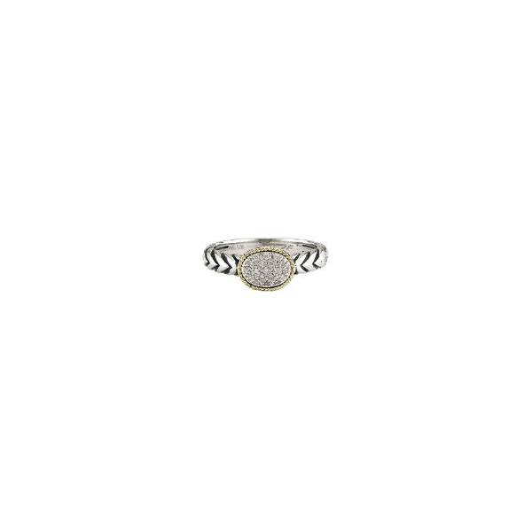 Sterling Silver + Diamond Ring by Andrea Candela