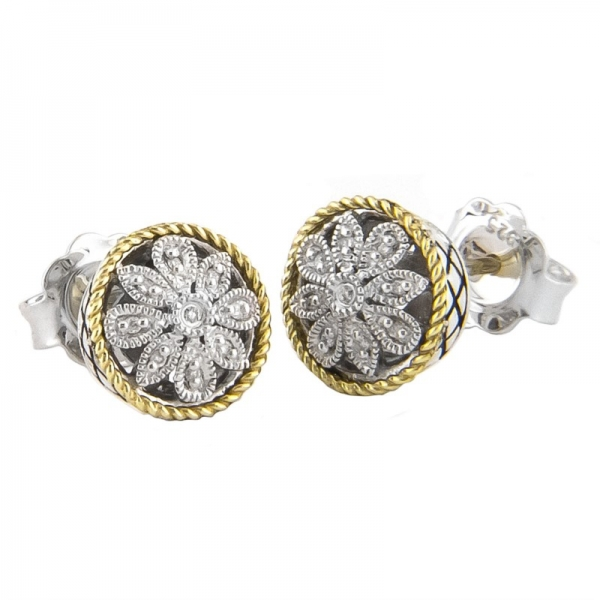 Pave Diamond Studs 001 645 03462 Stud From Hingham Jewelers Ma