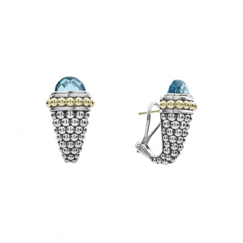 Signature Caviar Gemstone Earrings by Lagos