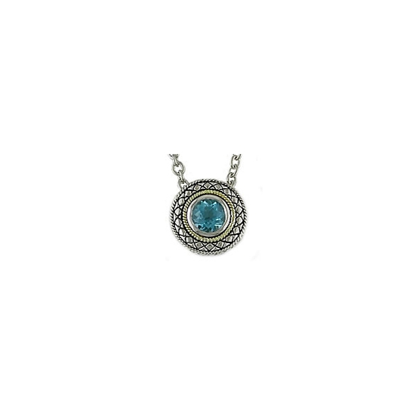 Sterling Silver Blue Topaz Pendant by Andrea Candela
