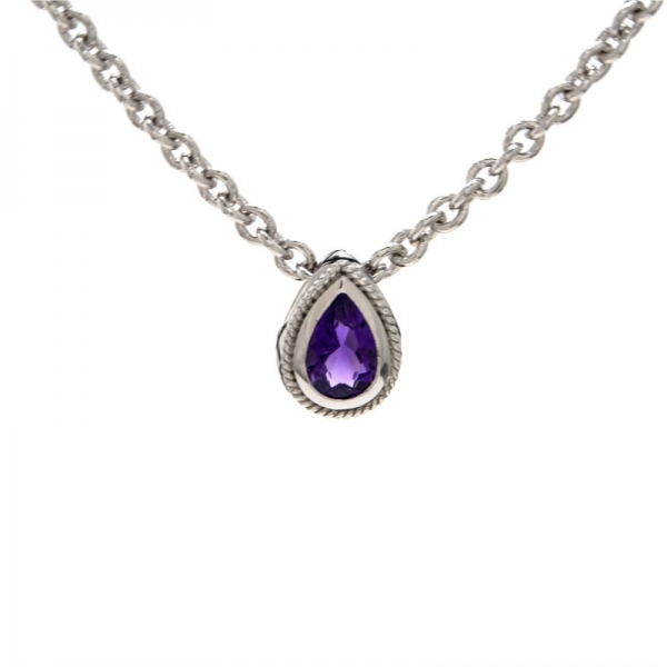 Sterling Silver Amethyst Necklace by Andrea Candela