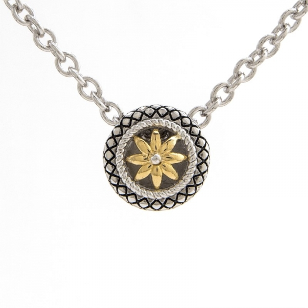 Sterling Silver + Gold Pendant Necklace by Andrea Candela