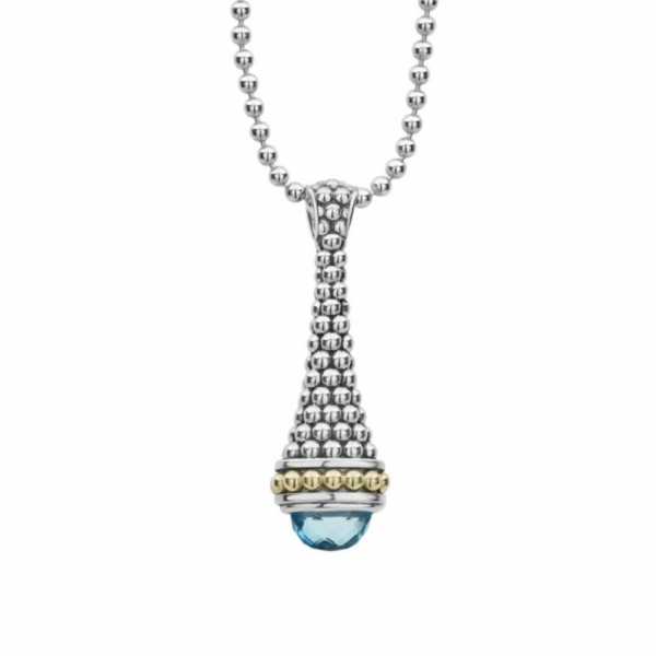 Signature Caviar Gemstone Pendant Necklace by Lagos