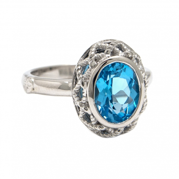 Blue Topaz Ring by Andrea Candela