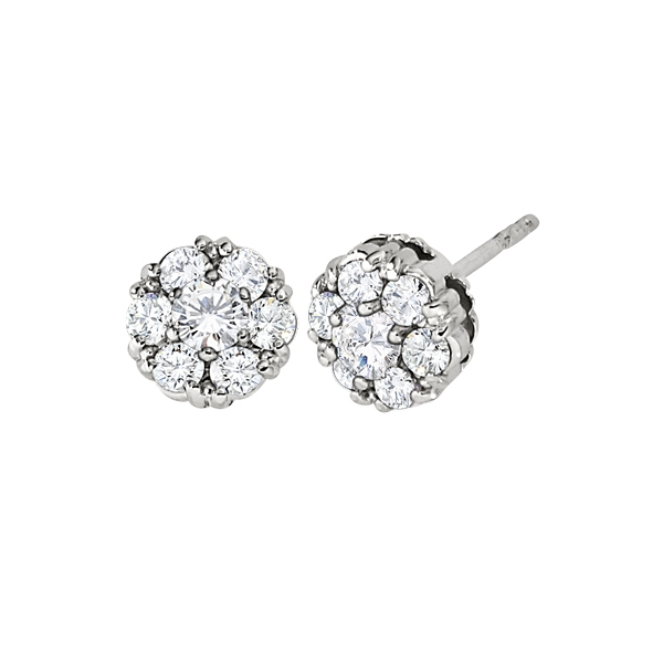 Diamond Cluster Studs by Jabel