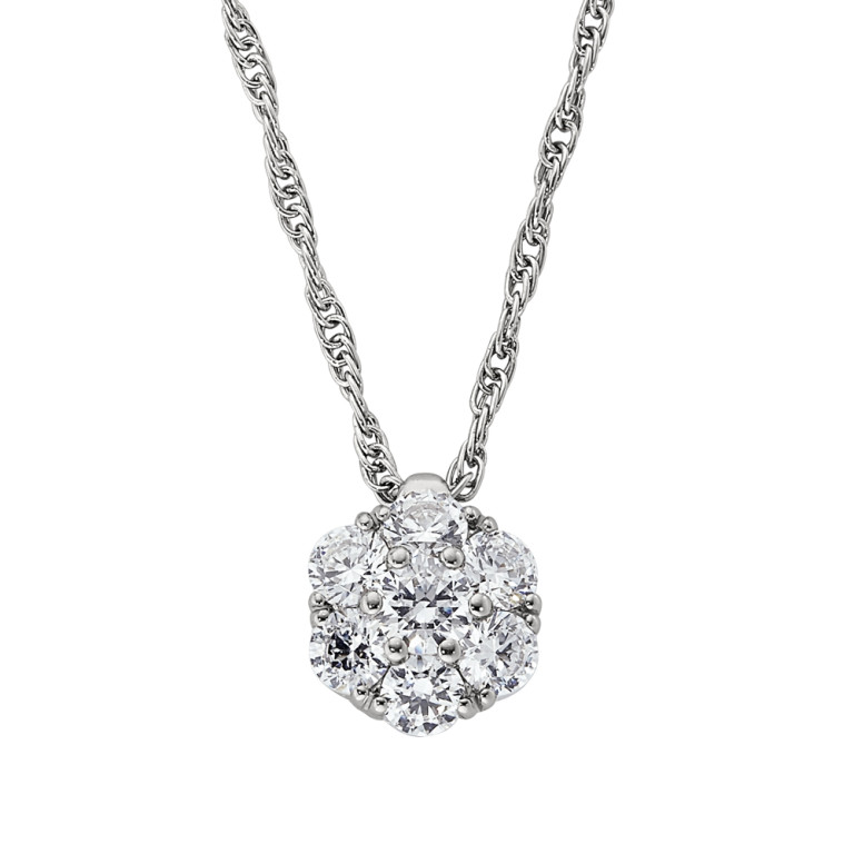 Diamond Cluster Pendant by Jabel