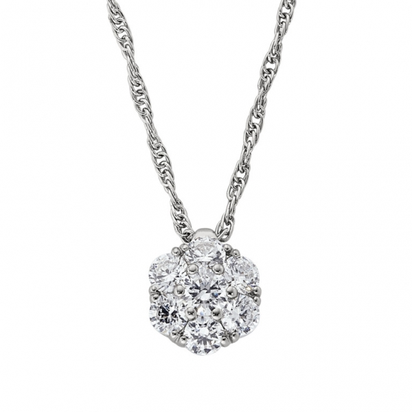 Diamond Cluster Necklace by Jabel