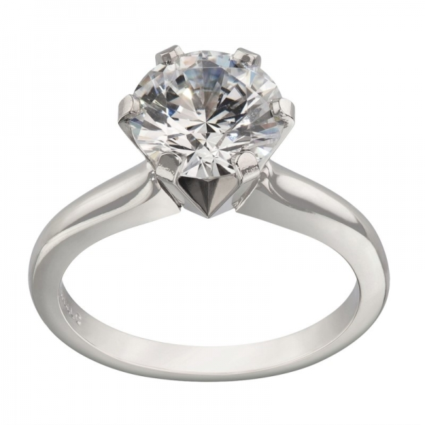 Gooseneck Style Classic Solitaire Engagement Ring Settings by Jabel