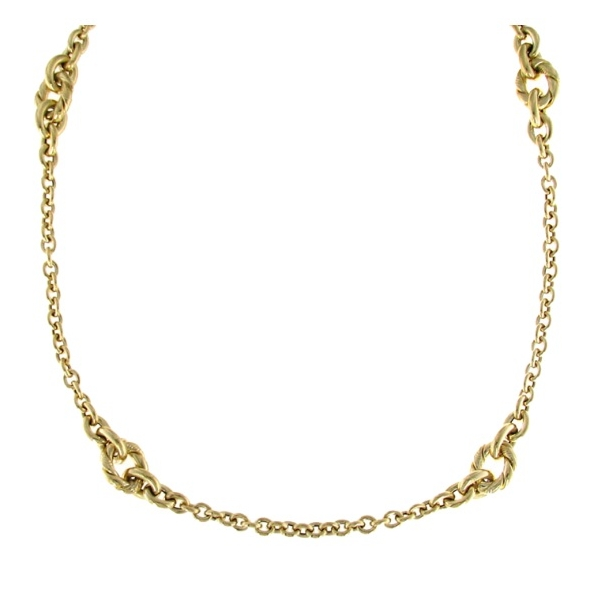 Long Knot Station Necklace by Roberto Coin