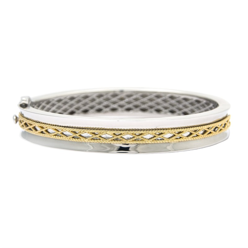 Sterling Silver Hinged Bangle by Andrea Candela