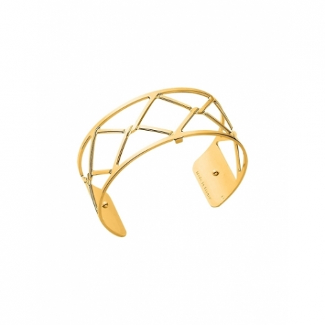 Gold Cannage Cuff by Les Georgettes