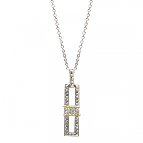 Sterling silver and diamond pendant by Andrea Candela