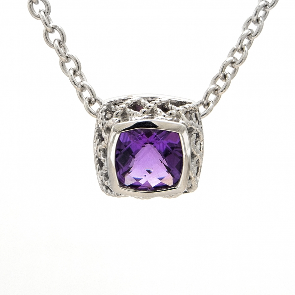 Amethyst Pendant Necklace by Andrea Candela